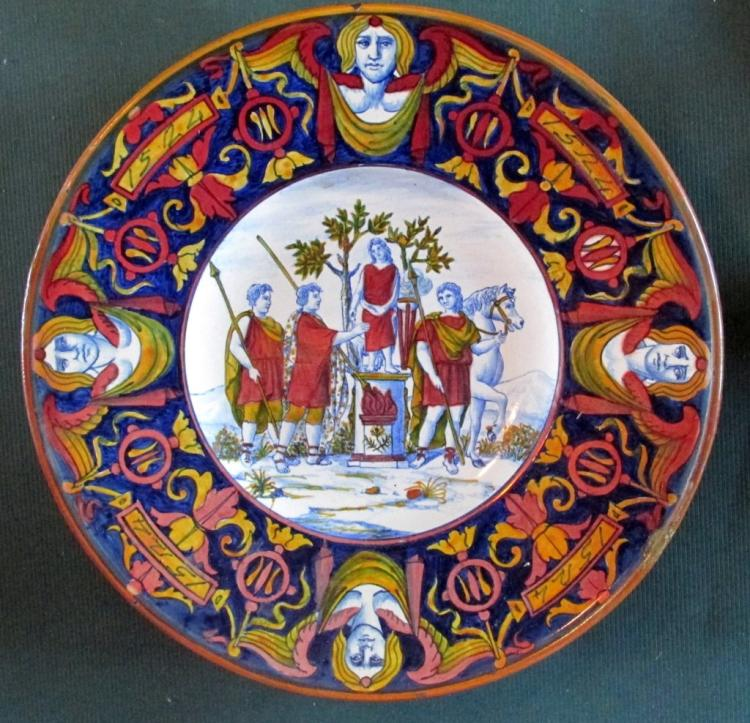 Italian Lustre Faience Charger - Paolo Rubboli
