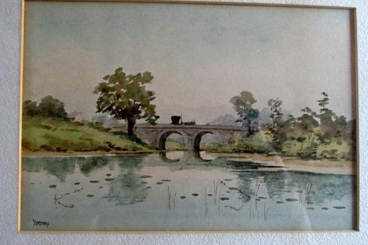 Nadeau (19th Century Boston) Watercolor
