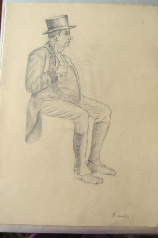 Alan Howard (1923 - 2008) Gentleman w/ Top Hat