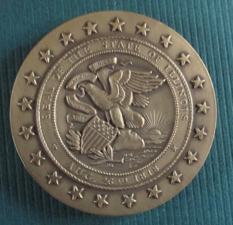 Illinois Bronze Medallion Sesquicentennial