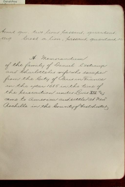 Hand Written Notebook of NY Hudson River Genealogy
