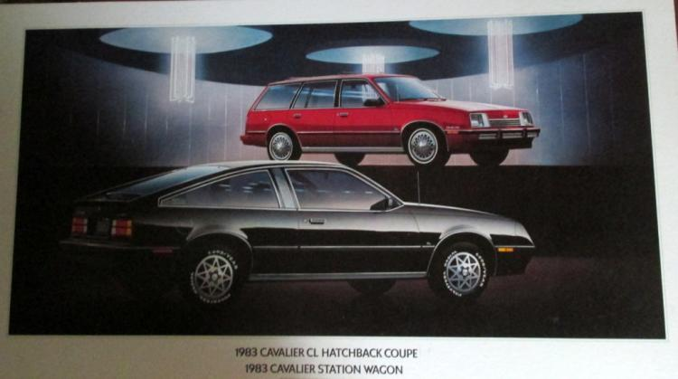 1983 Cavalier Station Wagon Advertising Sign