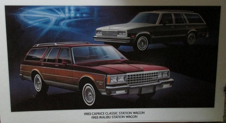 1983 Caprice Station Wagons Advertising Sign