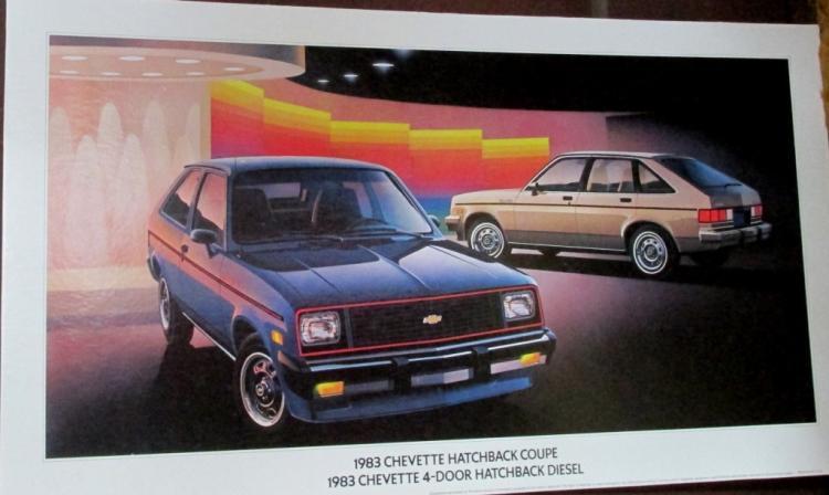 1983 Chevette Hatchbacks Advertising Sign