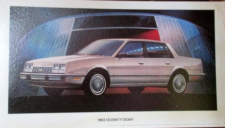 1983 Celebrity Sedan Advertising Sign