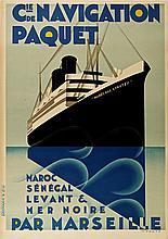 MAX PONTY Cie de Navigation Paquet - Maroc Sénégal Levant Mer Noire par Marseille