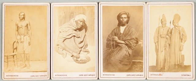 Blaise Bonnenide ( 1824 - 1906 ). Portraits cartes de visite pris à Saint Louis du Senegal.