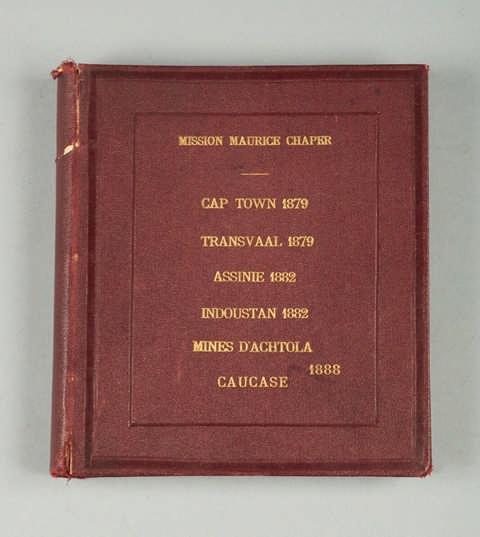 Maurice Chopier ( 1834 - 1896 ). Géologue. Mission Mouri et Chopier. Cap Town 1879. Transval 1879. Assirie 1882. Indoustan 1882. Mines d'Achota Caucase 1888. Vingt neuf photos.