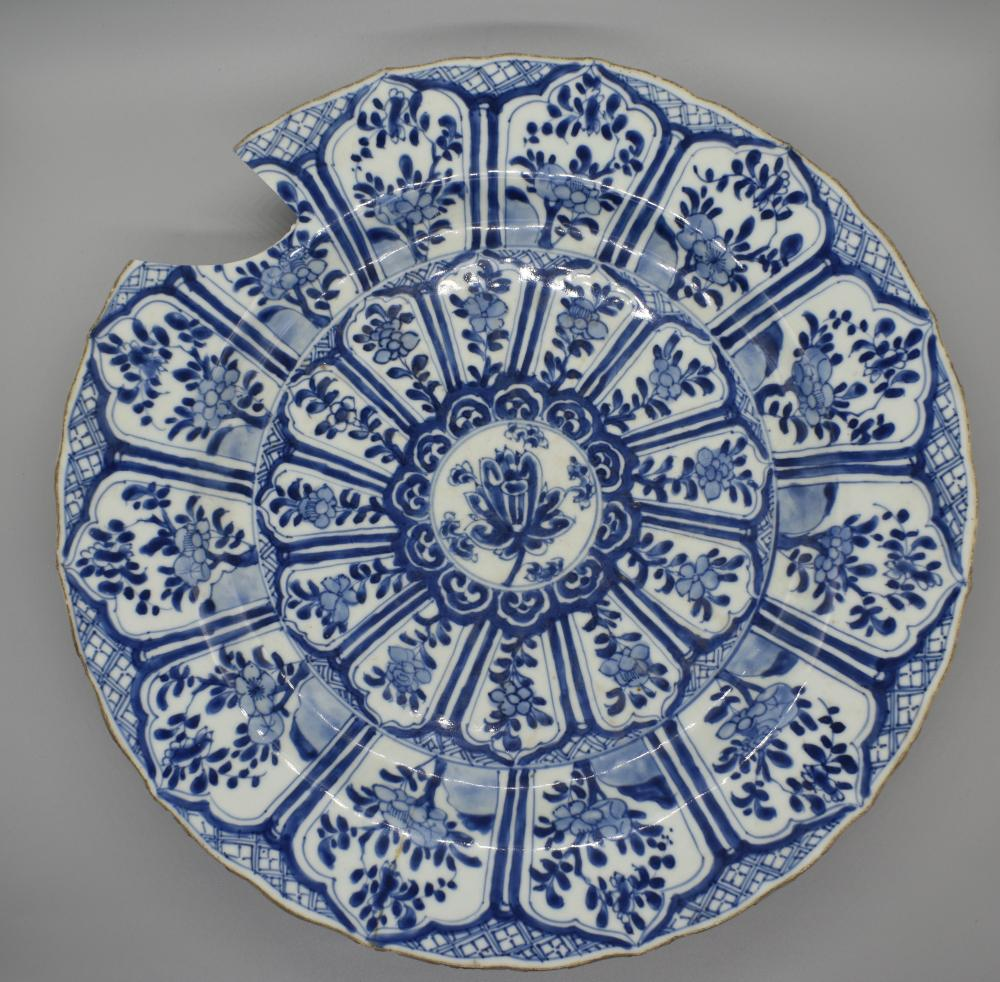 Blue and White Decorative Floral Charger