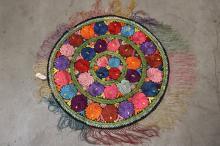 Round Floral Textile (51)