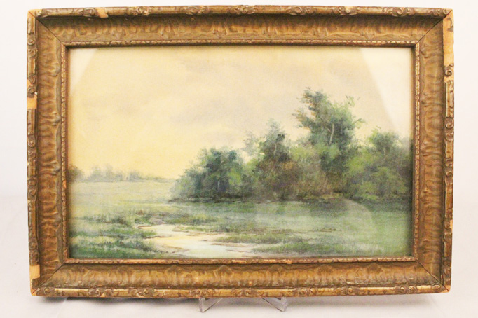 Early 20th C Louisiana Swamp Watercolor Painting Alexander Drysdale