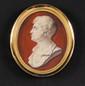 PIET SAUVAGE (1744-1818) attribué à Portrait d'homme de profil  Miniature ovale sur ivoire (restaurations) 7.5 cm 600/700 €