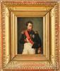 ROBERT LEFÈVRE (BAYEUX 1755- PARIS1830) atelier de « Portrait de l'Empereur Napoléon 1er» Huile sur toile. Marques au pochoir sur le châssis. 27 x 19. 5 cm. Beau cadre doré. 4 000/4 500 € Le tableau que nous présentons pourrait être une projet