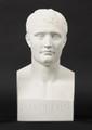 ANTOINE DENIS CHAUDET (1763-1810) d'après L'Empereur Napoléon 1er en buste en hermès Biscuit H :30 cm