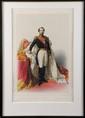 FRANZ XAVER WINTERHALTER (1805-1873), d'après.  «  Napoléon III, Empereur des Français. » Grande lithographie par Léon Noël, aquarellée.  79 x 53 cm.  Encadrée sous verre.  B.E. (Petites rousseurs ne touchant pas le sujet).