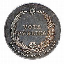 Napoléon 1er mariage avec marie Louise à Vienne 11 mars 1810 NAPOLEONIS GALL IMP ET M.LVDOV. FRANC. A. IMP. F.A.A. Deux fl ambeaux allumés. A l'exergue, FELICIBVS NVPTIIS. R/. Légende en deux lignes VOTA PVBLICA dans une couronne de palme et de