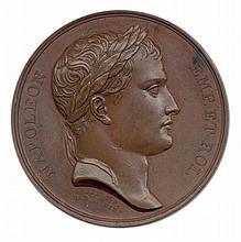 Napoléon 1er Délivrance de Dantzig 28 mai 1807 Tête laurée de l'empereur à droite. R/. L'empereur debout à gauche relève la ville de Dantzig à demiagenouillée à droite. Andrieu F. et Denon D. A l'exergue : LIBERTAS DANTISCO RESTITVTA et MDCCCVII.