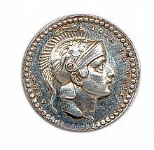 Bonaparte Premier Consul négociations qui précédèrent la rupture du traité d'amiens 1803 ARMÉ POUR LA PAIx Tête de Bonaparte à droite coiff é d'un casque orné d'une victoire portant un trophée. R/. A BONAPARTE. Un ibis symbolisant la vigilance, entre