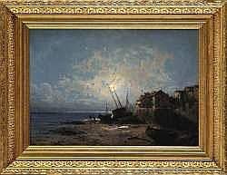 Alfred GODCHAUX - Bord de mer au clair de lune