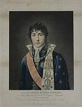 « S.A.I. LE PRINCE EUGENE NAPOLEON. »  Gravure aquarellée par P.M. Alix. 33 x 43 cm.  A.B.E.
