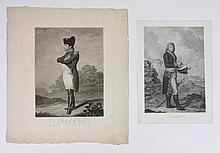 DEUX GRAVURES :  -« Buonaparte », d'après Le Dru.  42 x 28 cm.  -« Napoléon », d'après Dähling.  43 x 32 cm. B.E.