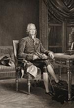 F. BARON GERARD, D'APRES.  « Charles Maurice de Talleyrand Périgord. Prince de Bénévent. » Gravure par Boucher Desnoyers, contresignée par lui en bas à droite.  61 x 41 cm.  A.B.E.