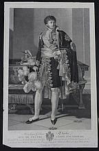 FABRE D'APRES. « Le Général Clarke, Duc de Feltre. »  Gravure par Massard.  38 x 68 cm.  B.E.