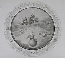 MAINA (D'APRÈS) « Napoleone ». Calendrier italien à centre gravé. Diam : 47 cm B.E.