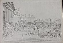 POIRIER DE DUNKERQUE  D'APRES.  « Tableau général de la Révolution française. »  Grande gravure par Charles Normand.  52 x 70 cm. A.B.E. (Petite déchirure en marge).