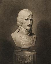 CERRACHI, D'APRES.  « Napoleone Buonaparte » Gravure anglais par Richter.  49 x 39 cm.  Rare.  A.B.E. (Petits mouillures et déchirures