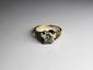 BAGUE SOLITAIRE en or gris ornée d'un diamant d'environ 1,40 carat.  Poids brut : 5,4 g TDD : 56