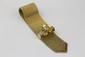 BRACELET MANCHETTE en or jaune, au motif cravate, le fermoir en platine et or jaune orné de diamants de taille brillant. Poids brut : 120 g Longueur : 22 cm  A diamond and yellow gold bracelet