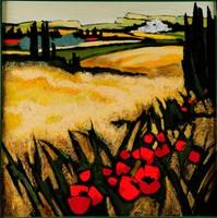 Jean TRIOLET (né en 1939) Printemps sauvage Huile sur toile signée en bas à gauche 100 x 100 cm Provenance : Galerie GBV, Avignon