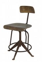 Odelberg OLSON (XXe) * Chaise atelier industrielle, structure en acier, assise et dossier en bois (sauts) Circa 1950 H : 83 cm
