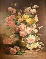Edmond Van COPPENOLLE - Bouquet de roses