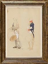 Edouard DETAILLE (1848-1912) Ecole Française. Suit