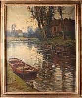 KEES TERLOW (1890-1948) - Barque sur la rivière