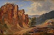 André GIROUX (Paris 1801 - 1879) Les Monts Sabins