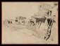 Francis John MAC COMAS (1875-1938)  Village indien, Nouveau Mexique Crayon et fusain Signé en bas à gauche 47 x 62,5 cm (18,5 x 24,6 in.)  Pencil and charcoal, Signed lower left