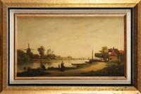 Auguste ANASTASI (1820-1889) L'attente Huile sur panneau Signée et datée 1864 en bas à gauche Au dos : Etiquette signée par l'artiste 26,5 x 45,5 cm (10,4 x 17,9 in.) Oil on panel, Signed and dated 1864 lower left