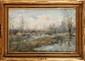Henry-Julien DETOUCHE (1854-1913) Bords d'étang Aquarelle Signée en bas à gauche 31 x 48 cm (12,2 x 18,9 in.)  Watercolour, Signed lower left