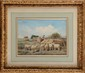 Félix Saturnin BRISSOT DE WARVILLE (1818-1892)  Le retour du troupeau Aquarelle Signée en bas à droite 27 x 37 cm (10,6 x 14,6 in.)  Watercolour, Signed lower right