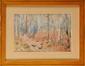 Baron Karl André Jean REILLE (1886-1974)  Scènes de chasse à coure Deux Aquarelles, gouaches et lavis Signées en bas à droite 31 x 47,5 cm (12,2 x 18,7 in.)  Pair of watercolours, gouaches and wash drawings, Signed lower right