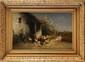 Alexandre DEFAUX (1826-1900)  La vie à la ferme Huile sur toile  Signée en bas à droite 78 x 52 cm (30,7 x 20,5 in.)  Oil on canvas, Signed lower right