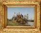 Paul Désiré TROUILLEBERT (1829-1900)  Pêcheur et sa barque Sur sa toile d'origine Signée en bas à gauche 29,5 x 41,5 cm (11,6 x 16,3 in.)  On its original canvas, Signed lower left