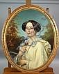 Joseph VAN LERIUS Portrait de femme Huile sur, Joseph