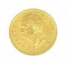UMBERTO Ier (1844-1900) 20 lire or-1882