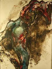 Lydie ARICKX (née en 1954) Souffrance Gouache sur