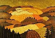André EVEN (1918-1996) Paysage de l'Argoat. Huile