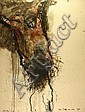 Lydie ARICKX né en 1954 Crucifixion. Huile sur, Lydie Arickx, Click for value